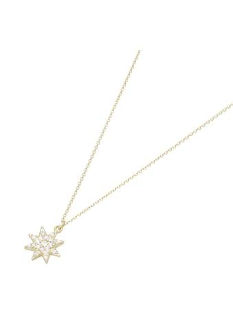 Luigi Merano Goldkette »Stern mit Zirkonia, Gold 375« kaufen