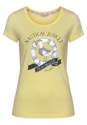 TOM TAILOR Polo Team T-Shirt, mit witzigem, maritimen Print kaufen