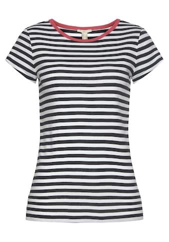 edc by Esprit T-Shirt, mit farblich abgesetzter Ausschnittkante kaufen