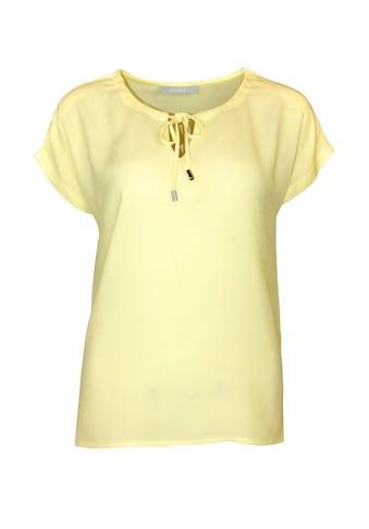 bianca Kurzarmshirt »JULIE«, in angesagten Farben mit V-Cut-Out kaufen