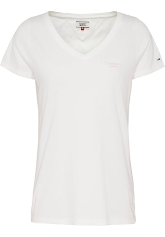 TOMMY JEANS V - Shirt »TJW CHEST SIGN OFF V - NECK TEE« kaufen