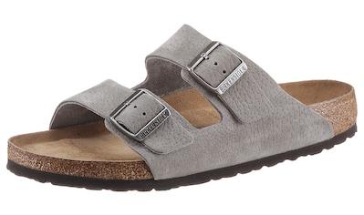 Birkenstock Pantolette »Arizona SFB«, mit Schnallen zum Verstellen, aus Leder kaufen