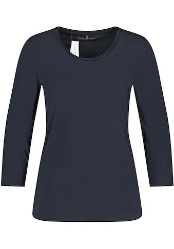GERRY WEBER 3/4-Arm-Shirt, mit Rollkante am Halsausschnitt kaufen