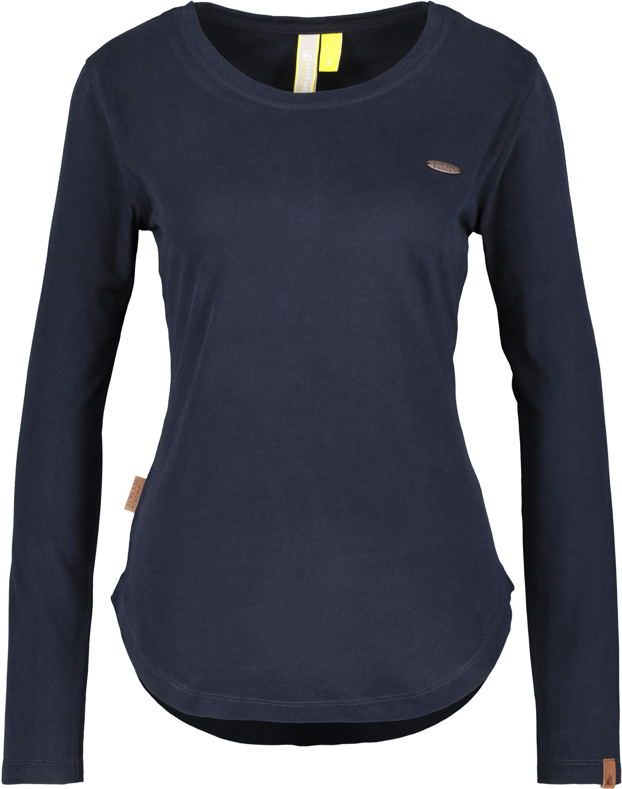 alife & kickin -  T-Shirt LeaAK A, modisches Longsleeve mit Bogensaum& Rundhalsausschnitt