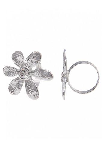 leslii Modeschmuck - Ring mit glänzender Blüte kaufen