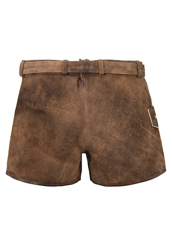 MarJo Trachtenlederhose, (2 tlg., mit abnehmbarem Gürtel), im Used Look kaufen