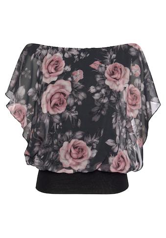 Melrose Shirtbluse, mit bedrucktem Chiffon - NEUE KOLLEKTION kaufen
