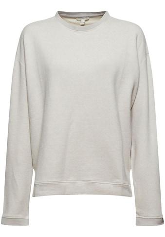 edc by Esprit Sweatshirt, mit Seitenschlitzen kaufen