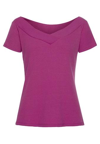 s.Oliver Beachwear Kurzarmshirt, mit weitem Ausschnitt kaufen