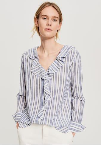 OPUS Hemdbluse »Felmie«, mit Rüsche entlang des Ausschnittes kaufen