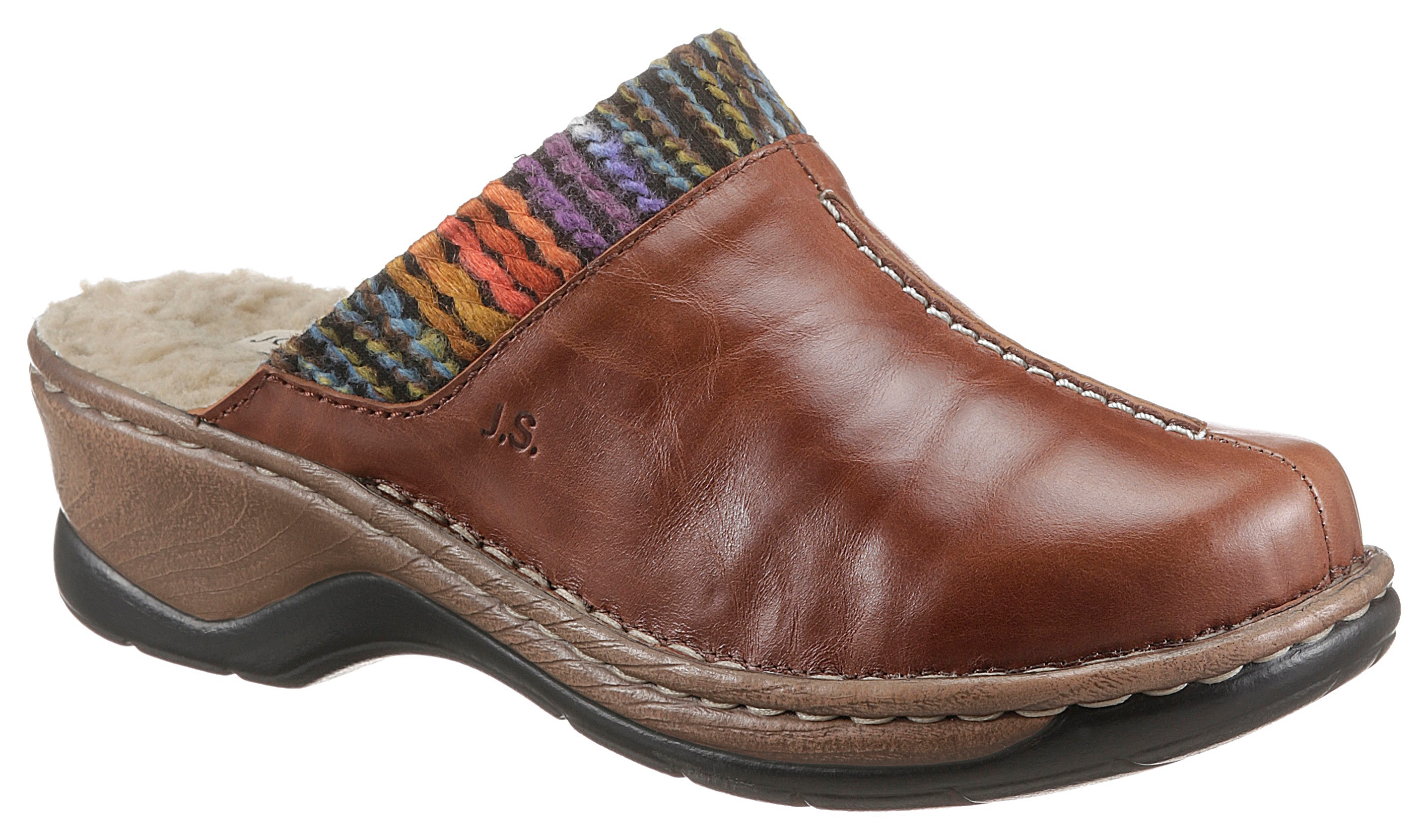 josef seibel -  Clog CATALONIA 59, mit buntem Textilbesatz