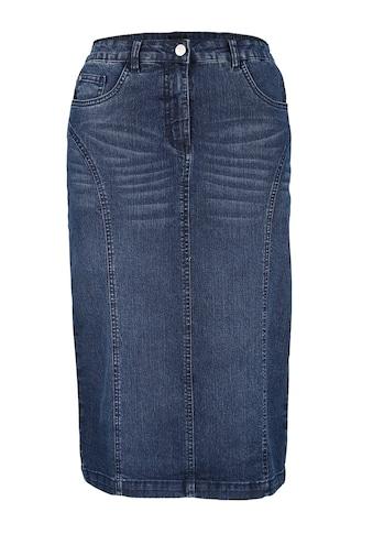 MIAMODA Jeansrock mit Gehschlitz hinten kaufen