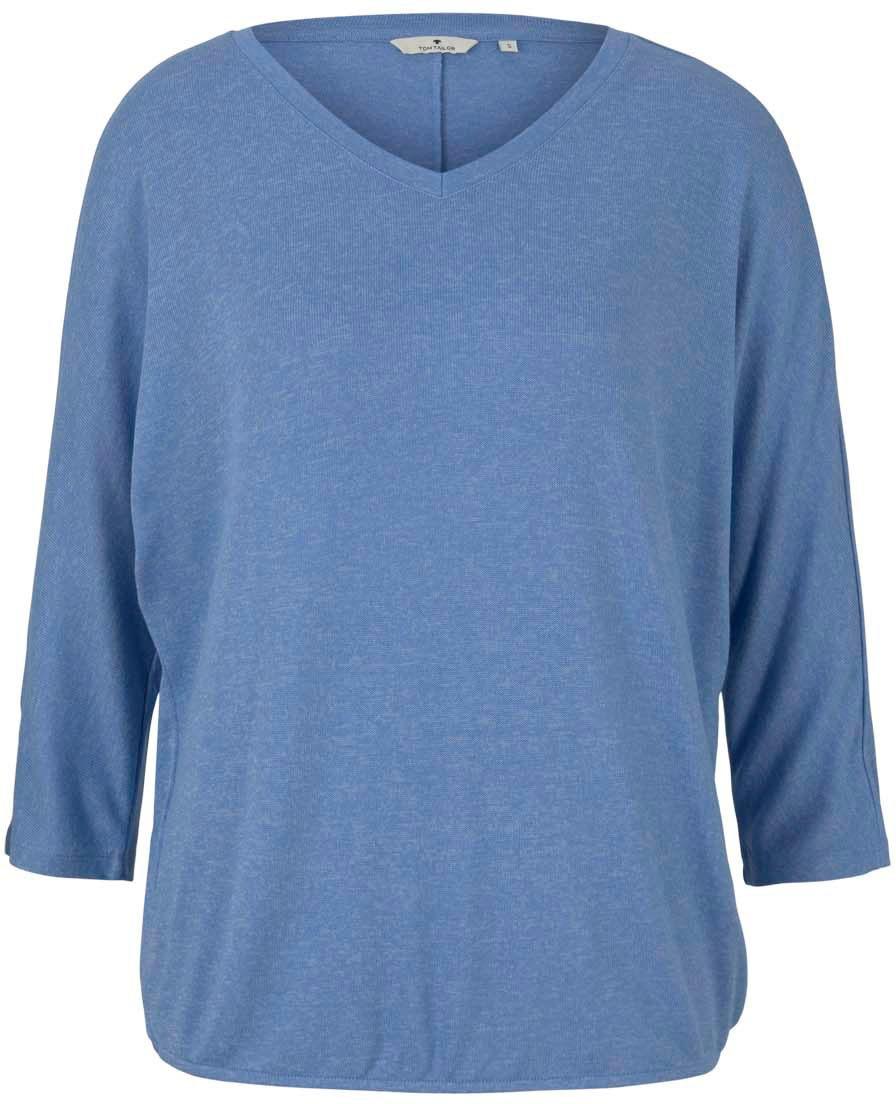 tom tailor -  3/4-Arm-Shirt, mit V-Ausschnitt