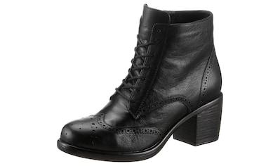 Hirschkogel Stiefelette, Damen aus Leder mit Schnürung und Reißverschluss kaufen