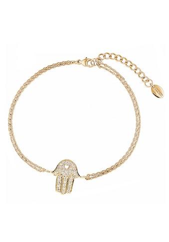 DOOSTI Silberarmband »Fatimas Hand mit Herz-Symbol, SI-B-33-RH, SI-B-33-YG«, mit... kaufen
