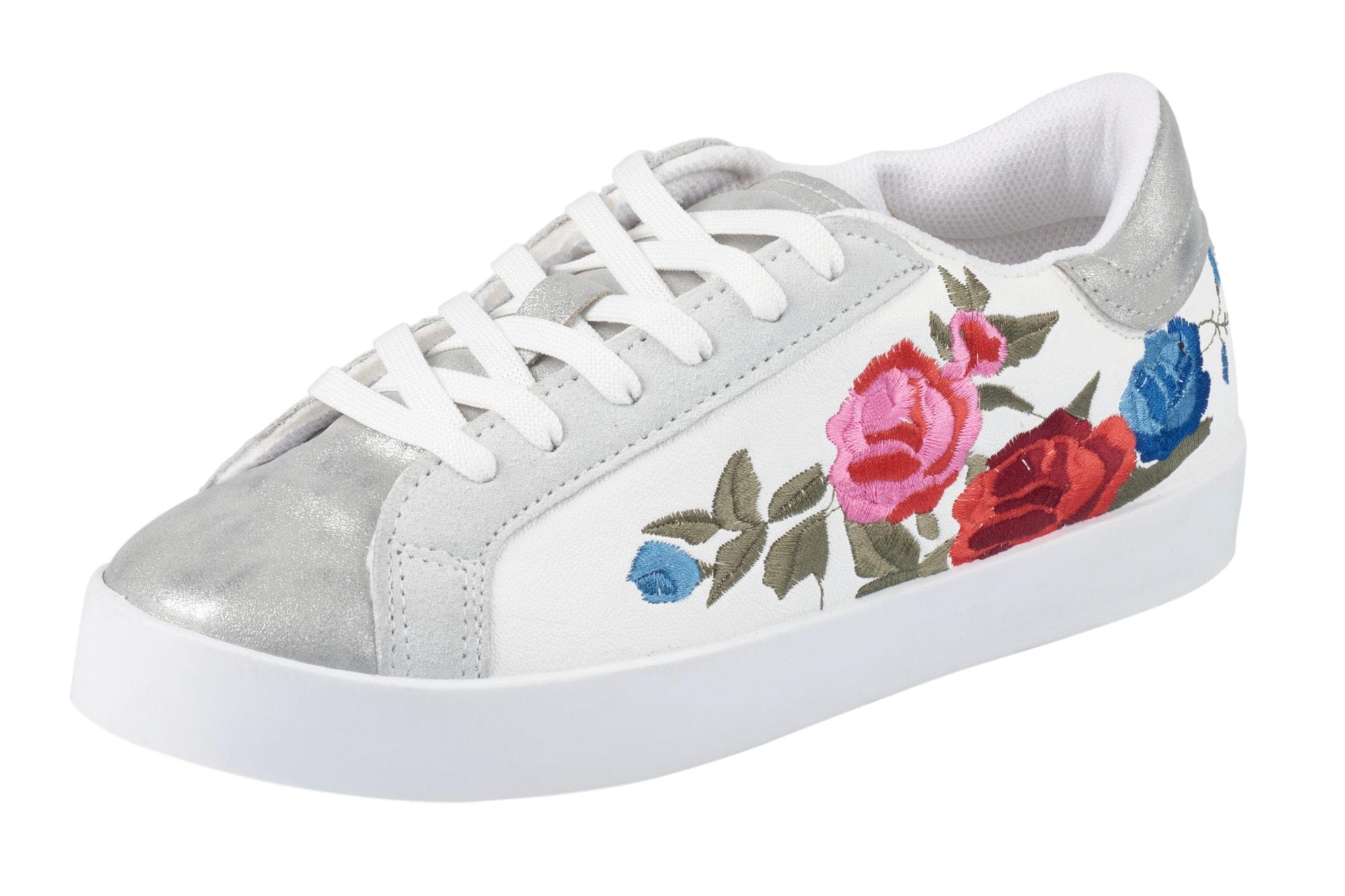 heine -  Sneaker mit Floral-Stickerei