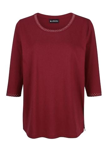 m. collection 3/4-Arm-Shirt, mit Strasssteinen kaufen