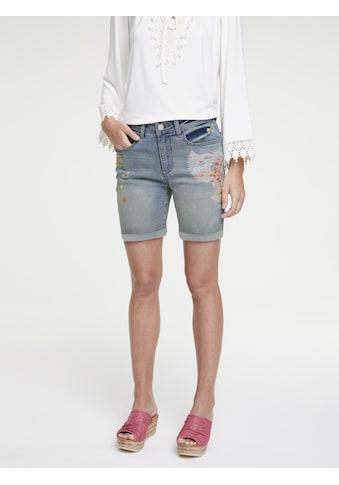 Jeans - Shorts Belena mit Stickerei kaufen