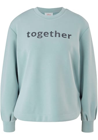 s.Oliver Sweatshirt, mit coolem Wording über der Brust kaufen