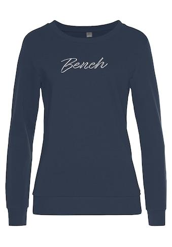 Bench. Sweatshirt, mit glänzender Logostickerei kaufen