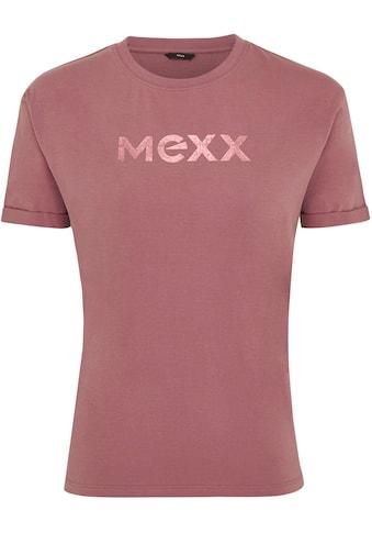 Mexx Rundhalsshirt, mit schimmerndem Front-Print kaufen