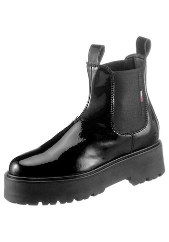 Tommy Jeans Chelseaboots »PATENT CHELSEA BOOT«, mit beidseitigem Stretcheinsatz kaufen