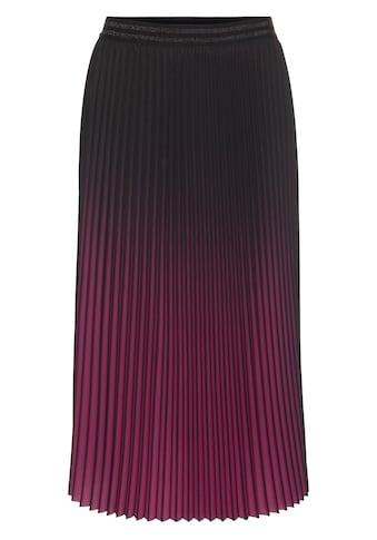 select! By Hermann Lange Plisseerock, mit elegantem Farbverlauf kaufen