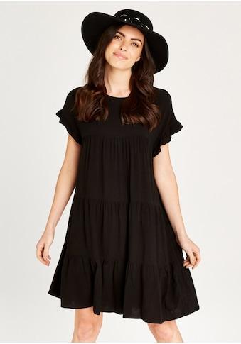 Apricot Sommerkleid »Ruffle Sleeve Detail Tiered Dress«, im Stufen-Look kaufen