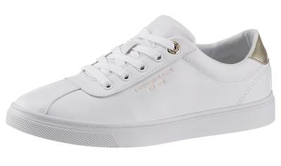 Tommy Hilfiger Sneaker »COURT LEATHER SNEAKER«, mit Kontrastbesatz in Metallicoptik kaufen