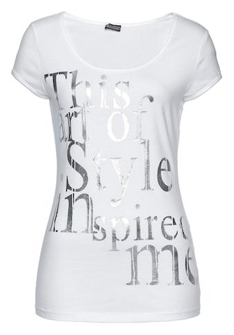 Laura Scott Rundhalsshirt, mit Folienprint kaufen