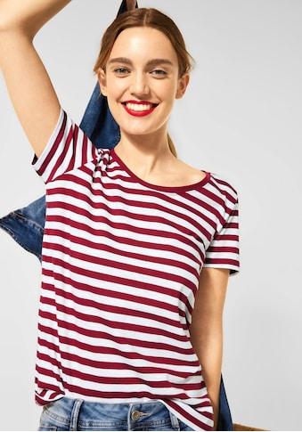 STREET ONE Rundhalsshirt »Style Gerda«, im modischen Streifenlook kaufen