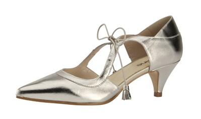 Laura Scott-Riemchensandalette hellbraun mit goldenen Nieten und Plateausohle