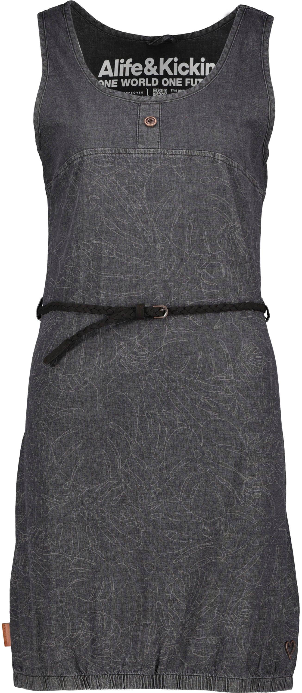 alife & kickin -  Jeanskleid DojaAK, süßes Trägerkleid mit elastischem Saum & Knopf-Details