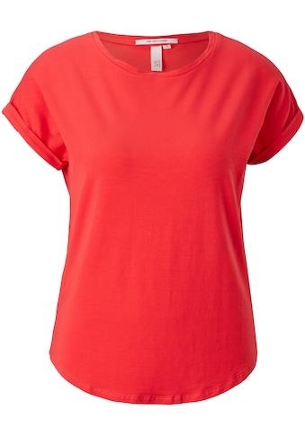 Q/S designed by T-Shirt, mit überschnittnen Schultern und abgerundetem Saum kaufen