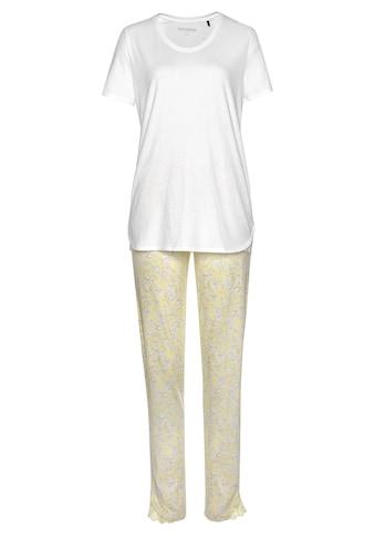 Schiesser Pyjama, mit dezentem Blumenmuster und Spitzendetails kaufen
