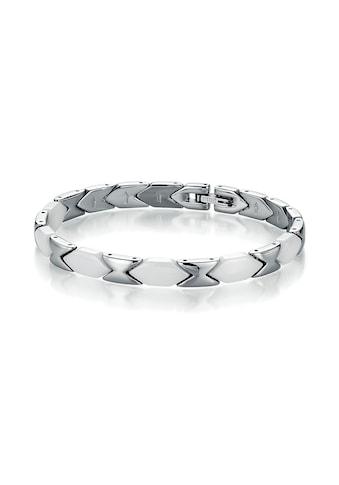 Jacques Charrel Armband »Keramik Glieder, Edelstahl« kaufen