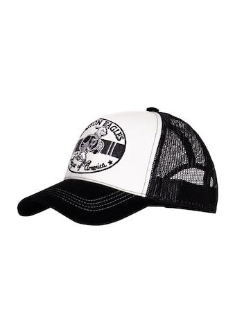 KingKerosin Trucker Cap »Boston Eagles«, mit Schirm in Samt-Optik und Stickereien kaufen