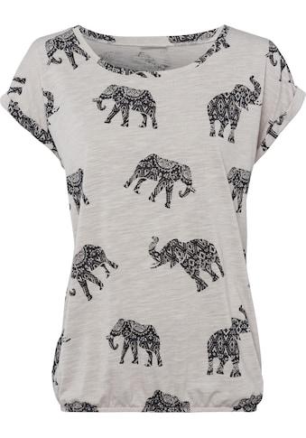 LASCANA Kurzarmshirt, mit Elefanten-Motiv kaufen
