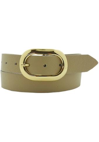 AnnaMatoni Ledergürtel, Mit goldfarbener ovaler Gürtelschnalle kaufen