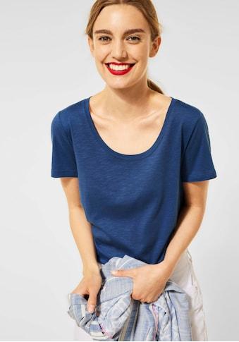 STREET ONE Rundhalsshirt »Style Gerda«, im cosy Materialmix kaufen