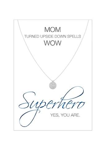 HERZ-KARTE Silberkette »Superhero«, Ankerkette rhodiniert mit Tag 925/- Sterlingsilber kaufen