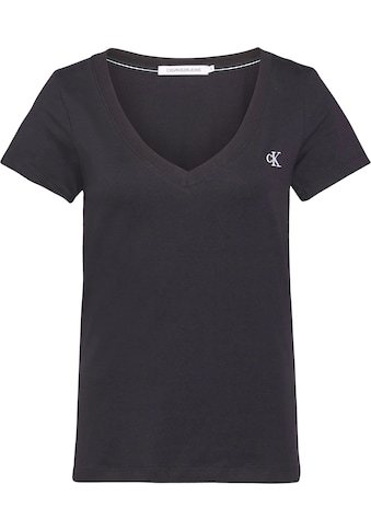 Calvin Klein Jeans V - Shirt »CK EMBROIDERY STRETCH V - NECK« kaufen