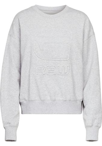 G-Star RAW Sweatshirt »Loose r Sweatshirt«, mit geprägten G-Star RAW Logo auf der... kaufen