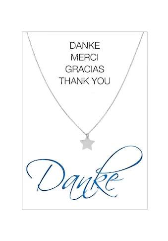 HERZ-KARTE Silberkette »Danke«, Ankerkette rhodiniert mit Stern 925/- Sterlingsilber kaufen