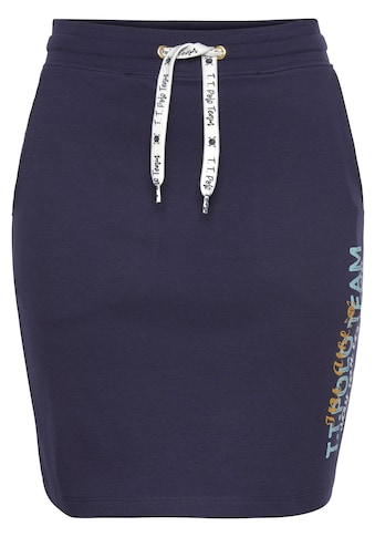 TOM TAILOR Polo Team Sweatrock, mit Logo-Print und Kontrast-Bindeband kaufen