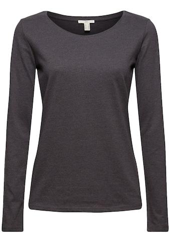 edc by Esprit Langarmshirt, in leicht taillierter Basic-Form kaufen