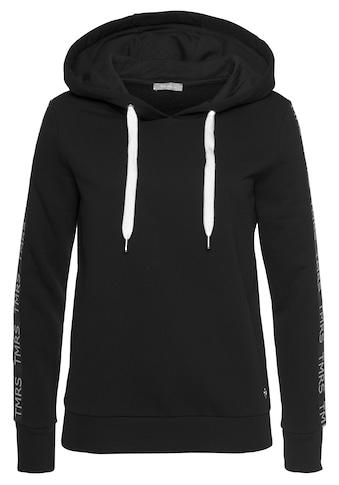 Tamaris Kapuzensweatshirt, mit trendigem Ärmelband kaufen