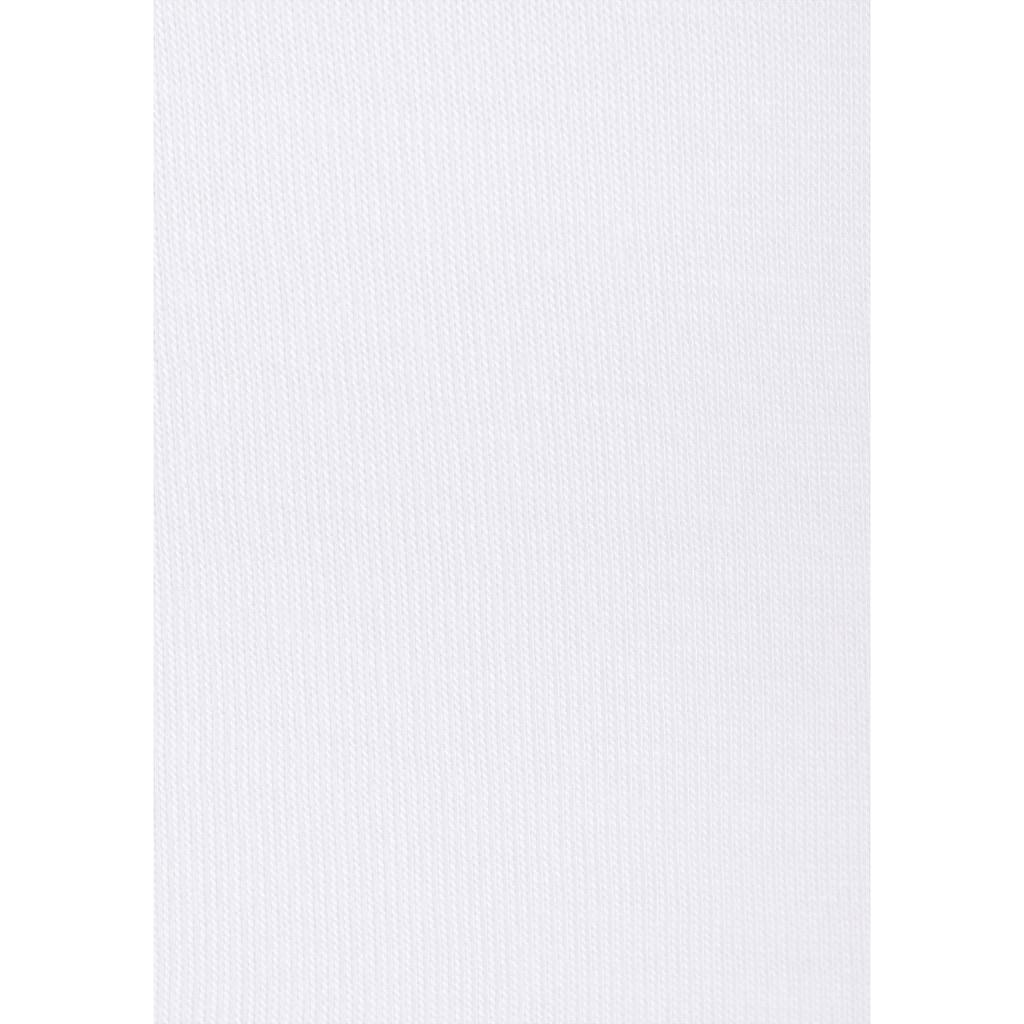 s.Oliver Beachwear Kurzarmshirt, mit gedruckter Bordüre