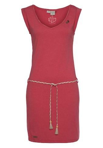 Ragwear Shirtkleid »SLAVKA«, (2 tlg., mit abnehmbarem Gürtel), mit kontrastierendem V-Ausschnitt kaufen