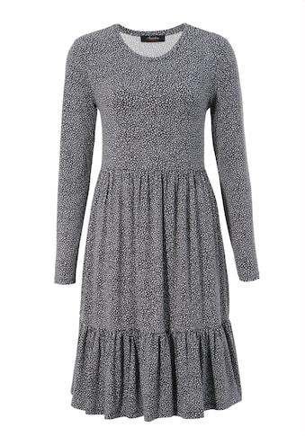 Aniston CASUAL Jerseykleid, mit trendigem Minimal-Print - NEUE KOLLEKTION kaufen